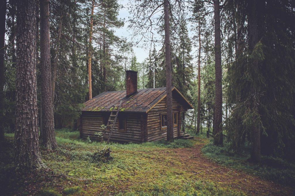 森の中にある家